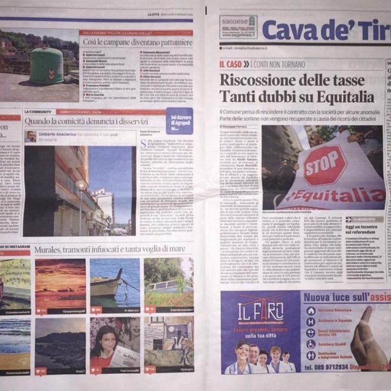 """La nostra pubblicità sul quotidiano """"La Città"""""""